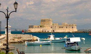 Bourtzi castle in the harbour of Nafplio
