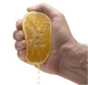 squeeze lemon