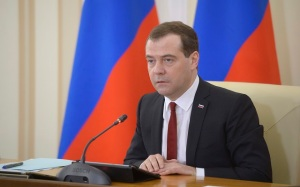 Medvedev chairs a government meeting in the Crimean city of Simferopol
