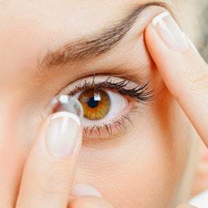 Eye Care with contact lens
